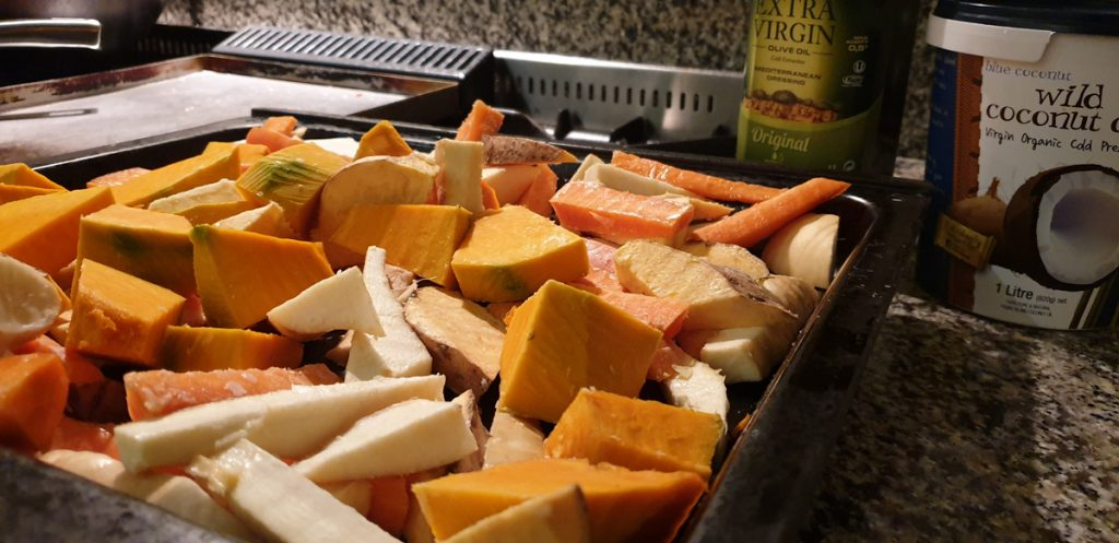 Veges ready to roast