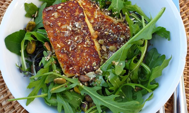 Lunchtime Easy Haloumi Salad