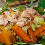 Roast Vegetable Chicken Salad